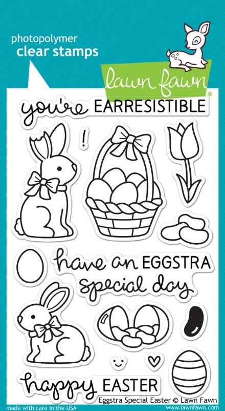 LF0840 ~ EGGSTRA SPECIAL EASTER ~ CLEAR STAMPS BY LAWN FAWN